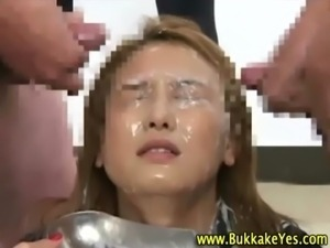 Asian bukkake sluts facially cum drenched free