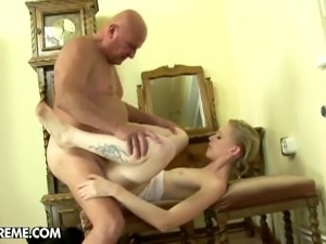 Jenni nailed by old cock