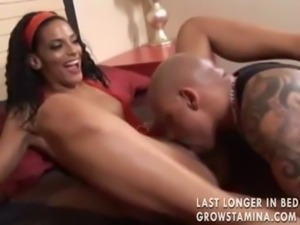 Skinny black chick and her black lover free
