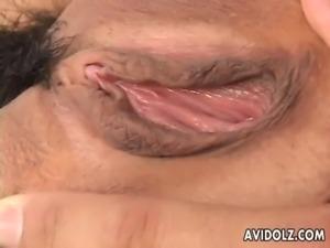 Naughty Arisa Suzuki pussy licking free