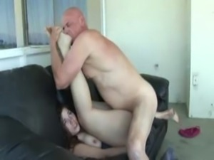 Big Ass Babe Banged On Couch by Old Man free