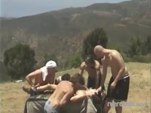 5 Guys Destroy a Teen Out Hiking Anal free