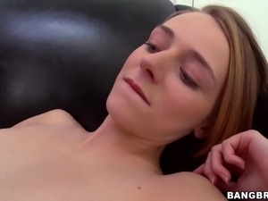 small tit blonde getting fucked and facial