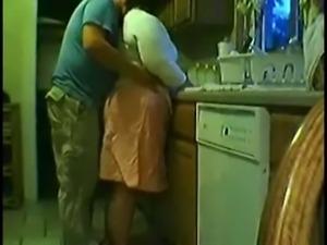 Fat Amateur Mature Fun in The Kitchen