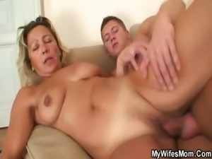 He bangs my horny pussy while his GF away