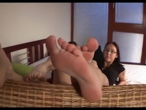 FFM foot fetish threesome