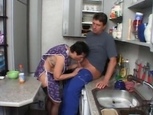 SEXY MOM n108 brunette german mature in the kitchen