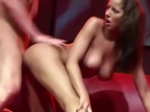 Sexy euro babe fucking live on stage free