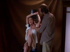 Alyssa Milano topless photoshoot scene