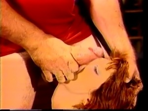 Bitch gets double vaginal fucking