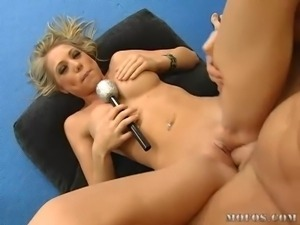 young blond gets a pounding and she loves that dick