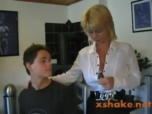 Hot German Mom Teaches Young Boy free