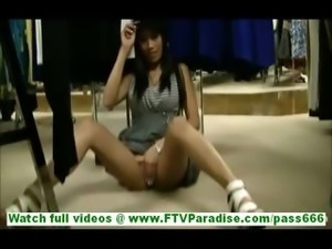 Felicia hot latina milf with no panties flashing ass and tits and flashing...