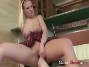 Milf Rita riding on fresh dick