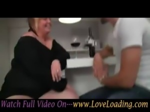 Sexy BBW Banged From Behind And Gives Nice Blowjob free