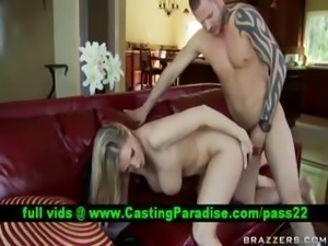 Devon Lee busty blonde fucking and gets cumshoot