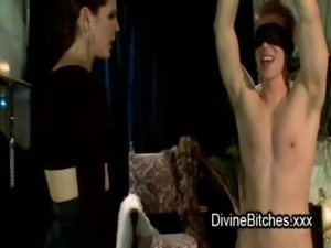 Bdsm guy fucks mistress with gag dildo free