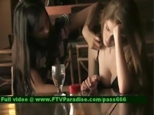 Inventive Lesbians Flashing Outdoor