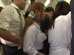 nippon cutie horny in the subway