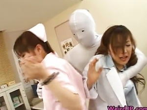 Japanese babes in extreme groping