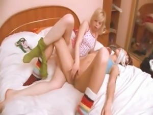 latvian girl getting kinky with girl