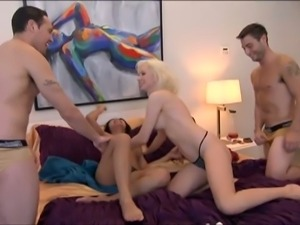 Kinky couples' foursome fuck