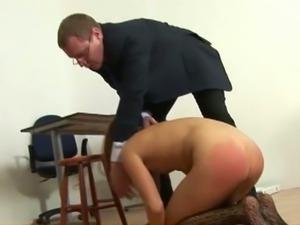 College teacher public humiliation and spanking.