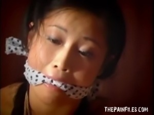 Tabithas teen japanese bondage and oriental fetish of tied up eastern beauty...