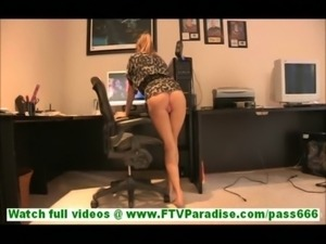 Ashley amateur naughty blonde girl with natural tits undressing and posing...