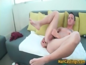 Young cute guy Tyler blows hard gay tube part1