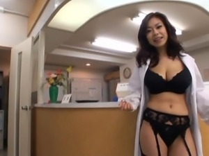 busty japanese nurse and her doc
