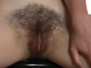 Hairy Babe Barb finger fucking in the kitchen