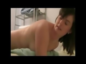 Girl Does Enema At Home