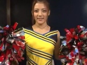 cute asian cheerleader receives a naughty treatment