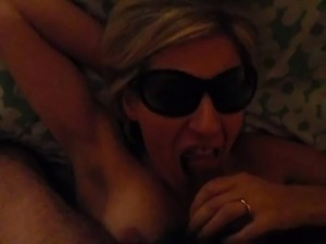 Mature make blowjob and handjob with cumshot on her breast