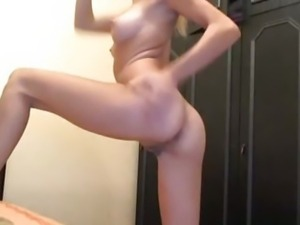 College Blonde Strips Naked and Plays with Herself