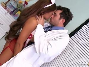 hot nurse sucks a big dick