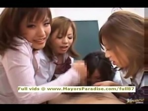 Japanese AV girls are cock teasing nurses