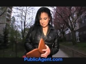 PublicAgent Krystina bends over for a wallet full of cash free