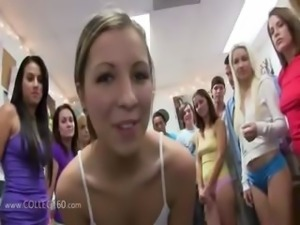 Group of hungry girls fucking on college
