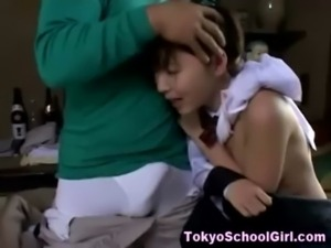 Japanese schoolgirl finger and blowjob free