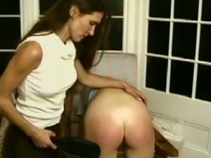 Spanking punishment for two cry babies caning