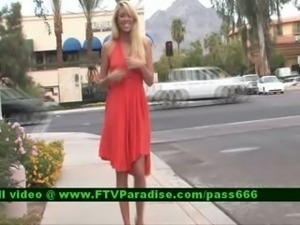 Brynn blonde babe walking outside