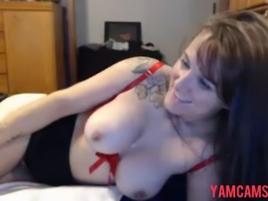 No Sound: Tatooed girl gets fucked doggystyle