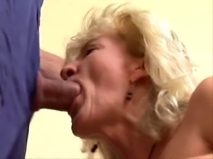 Mature blonde fuck and facial