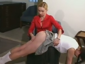 Red curvy ass got spanked at the office