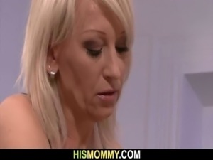 His GF is toyed after strip poker with his mom free