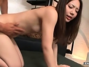 Dirty asian slut gets her pussy banged