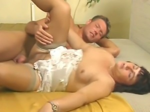 Mature German Gets A Savage Pounding From A Young Man