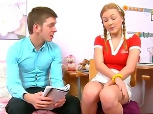 Beautiful teen Sarah good for anything to get fucked by her English teacher